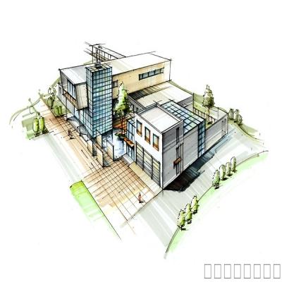 建筑设计手绘表现作品