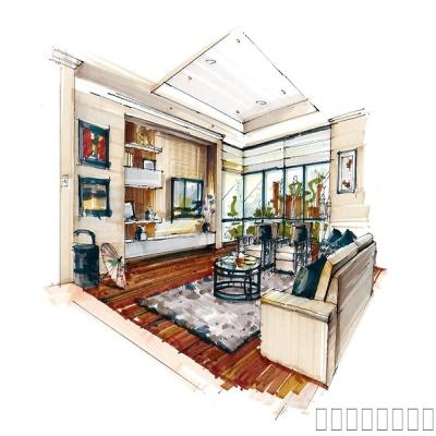 室内设计手绘表现作品